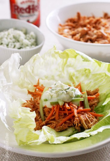 Crock-Pot-Buffalo-Chicken-Lettuce-Wraps-550x802